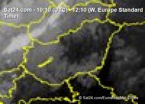 Magyarország infravörösképe