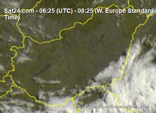 Magyarország műholdképe