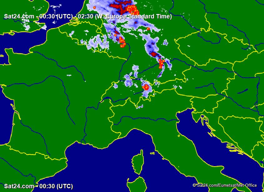 Satellite - Radar Alps