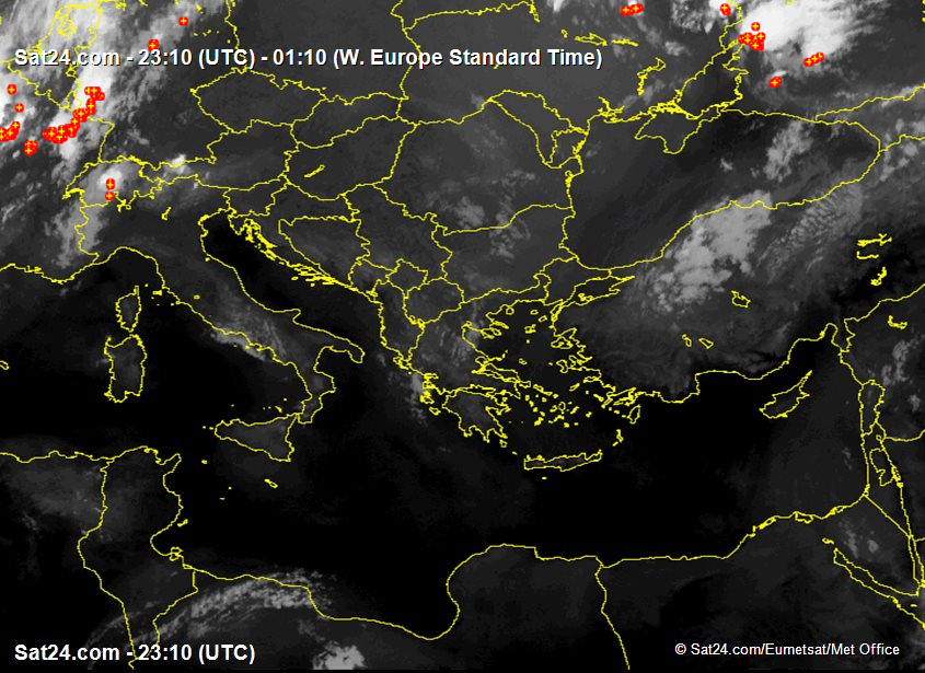 Satellite - Radar Balkans