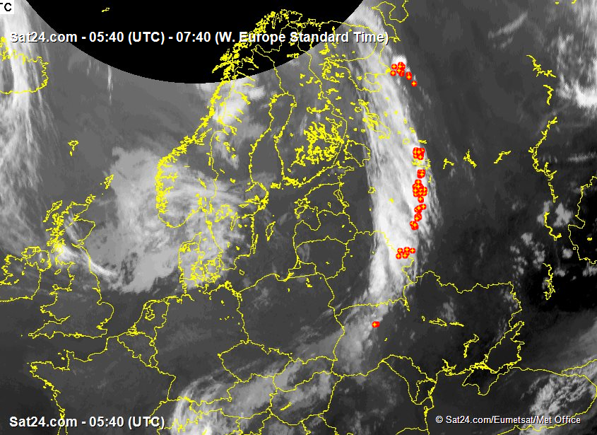 Satellite - Radar Scandinavia