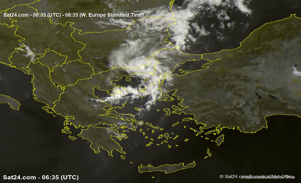 Satellite - Radar Greece, Turkey