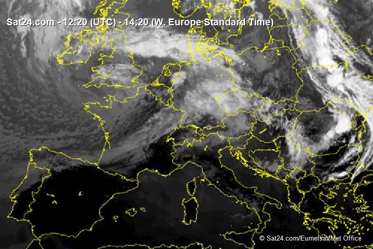 Aktuelles Satellitenbild Europa Infrarot